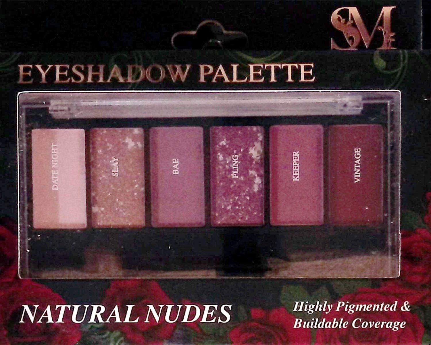 Smoke&Mirrors Eye shadow Palette - Natural Nudes, Highly Pigmented & Buildable Coverage