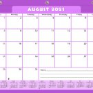 2021-2022 Academic Year 12 Months Student Calendar/Planner for 3-Ring Binder -v005