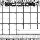 2021-2022 Academic Year 12 Months Student Calendar/Planner for 3-Ring Binder -v010