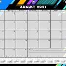 2021 - 2022 Academic Year 12 Months Student Calendar/Planner for 3-Ring Binder -v012