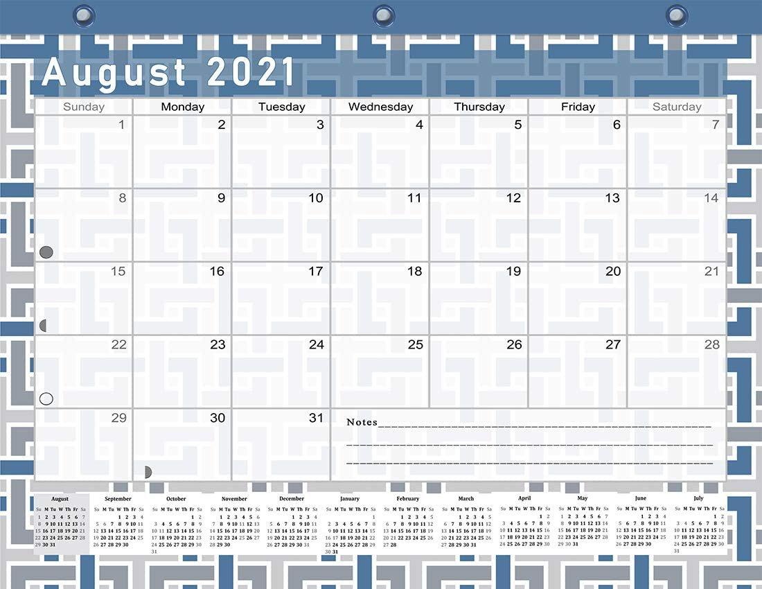 2021-2022 Academic Year 12 Months Student Calendar/Planner for 3-Ring Binder -v014