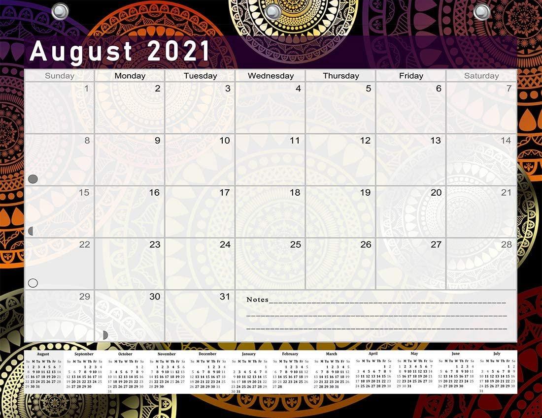 2021-2022 Academic Year 12 Months Student Calendar/Planner for 3-Ring Binder -v015
