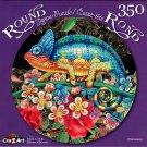 Chameleon - 350 Piece Round Jigsaw Puzzle