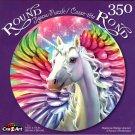 Rainbow Wings Unicorn - 350 Piece Round Jigsaw Puzzle