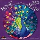 Pretty Peacock - 350 Piece Round Jigsaw Puzzle