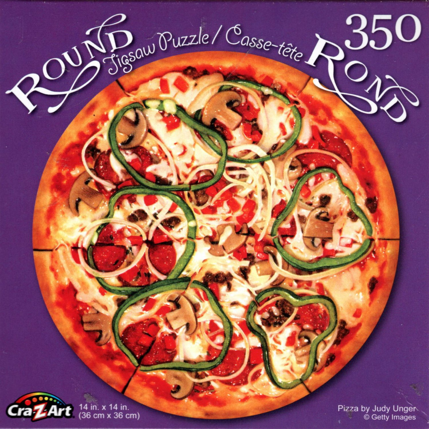 Pizza by Judy Unger - 350 Piece Round Jigsaw Puzzle