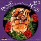 Tiger Rose - 350 Piece Round Jigsaw Puzzle