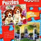 Garden Buddies / Benicia Parch - Total 480 Piece 2 in 1 Puzzles