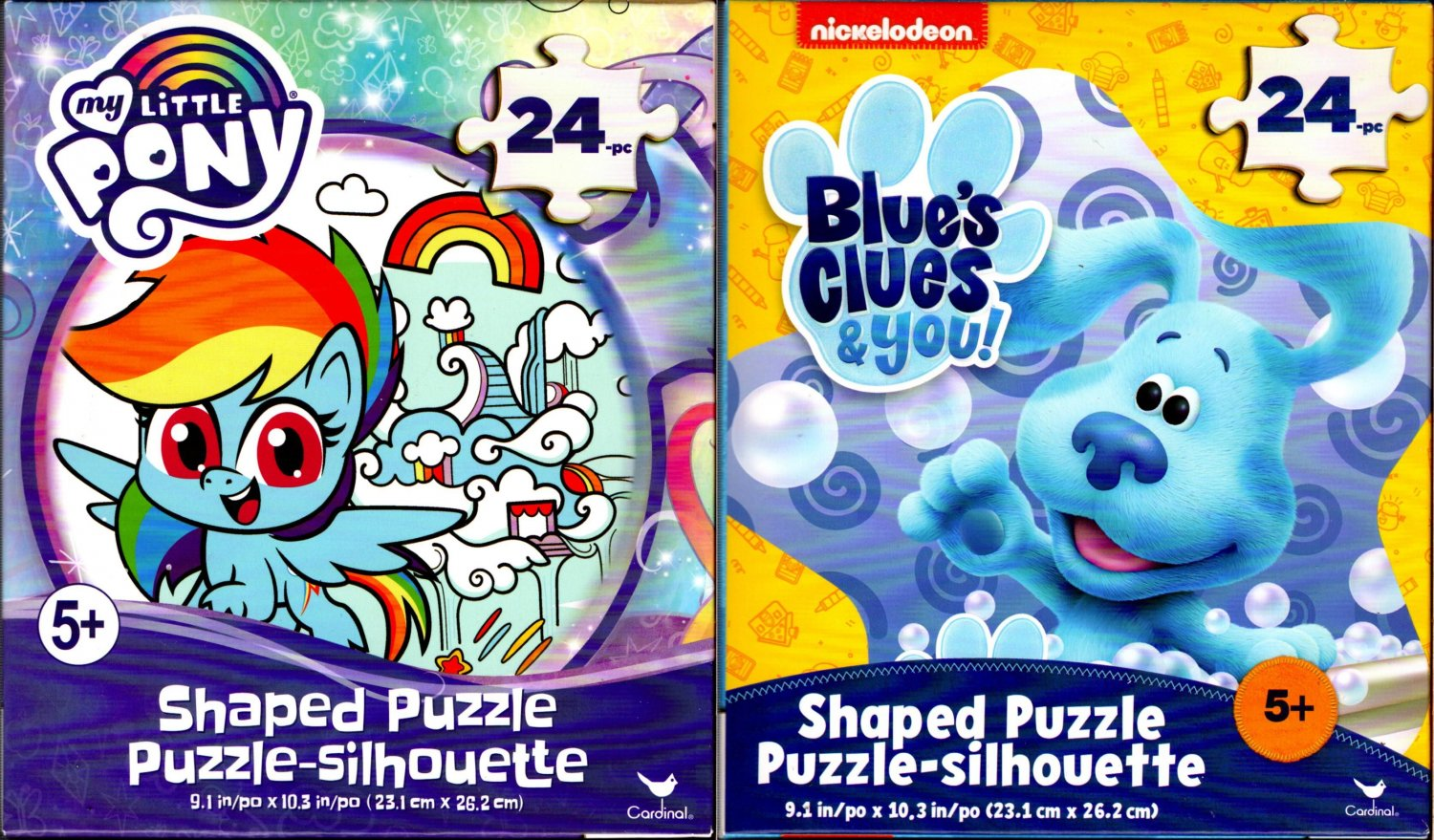 Blue`s Clues & you! and My Little Pony - 24 Shaped Jigsaw Puzzle (Set of 2)