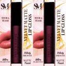 Smoke&Mirrors Velvet Matte Lip Gloss (Sucha Tease) - Ultra Pigmented, Matte Finish (Set of 2 Pack)