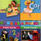 Sesame Street Educational Flash Cards for Early Learning - (Set of 4 Pack)