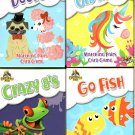 Educational Flash Cards Learning Game - (Learn School Homeschool Practice - Fun!) - (Set of 4 Pack)