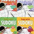 Large Print Sudoku Puzzle - Easy - Medium - Expert - All New Puzzles - Vol.23 - 26 (Set of 4)