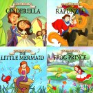 Princess Story Time Children Book - The Frog Princess, Little Mermaid, Rapunzel, Cinderella