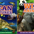 Learn about Wild Animals and Ocean Creatures - Children Book (Set of 2 Books)