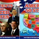 Learn about America`s 50 States and Presidents of the United States - Children Book (Set of 2 Books)