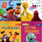 123 Sesame Street Kindergarten Educational Workbooks - Numbers, Colors, Letters, Alphabet - Set of 4