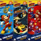 Disney Junior - Mickey and The Roadster Racers - 24 Pieces Tower Jigsaw Puzzle (Set of 3)