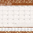 2021-2022 Academic Year 12 Months Student Calendar/Planner for 3-Ring Binder -v017