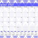2021-2022 Academic Year 12 Months Student Calendar/Planner for 3-Ring Binder -v018