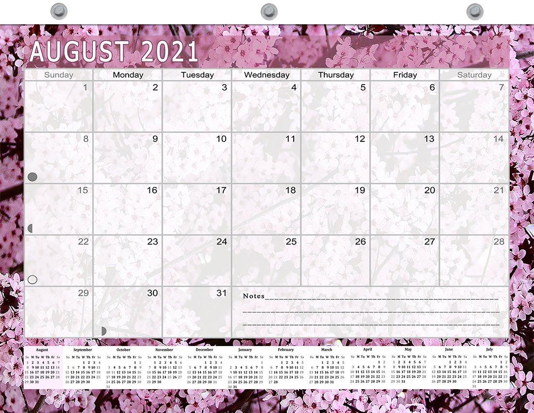 2021-2022 Academic Year 12 Months Student Calendar/Planner for 3-Ring Binder -v021