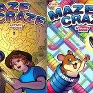 Maze Craze Activity Book for Kids Easy Medium Hard Levels - (Set of 2 Books) v3