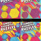 Large Print Jumbo Assorted Puzzles and Games - Word Search Sudoku, Cross Sums, Mazes & More