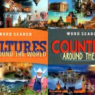 Large Print Word Search - Countries and Cultures Around the World -(Set of 2 Books)