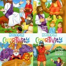 Colortivity Bible Fun - Read and Color Coloring & Activity Book - Set of 4 Books v5