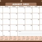 2021-2022 Academic Year 12 Months Student Calendar/Planner for 3-Ring Binder -v022
