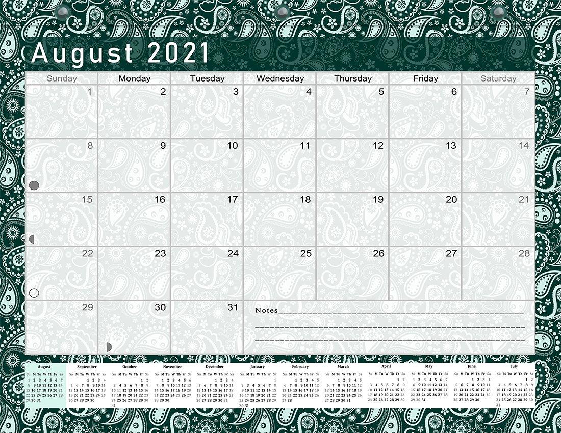2021-2022 Academic Year 12 Months Student Calendar/Planner for 3-Ring Binder -v025