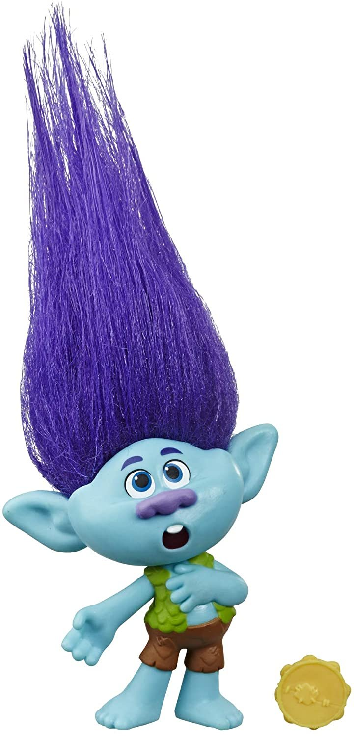 Trolls DreamWorks World Tour Branch, Collectible Doll with Tambourine Accessory