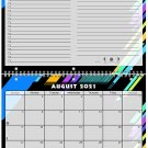 2021 - 2022 Academic Year 12 Months Student Calendar / Planner (Edition #012)