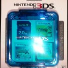 Nintendo 3DS Compact Game Case - Clear Blue - Stores 16 Game Cards