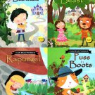 I Can Read Phonics - Puss in Boots, Rapunzel, Beauty and Beast, Jack and the Beanstalk - (Set of 4)