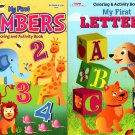 Coloring & Activity Books - My First Numbers and My First Letters (Set of 2 Books)