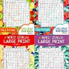 Large Print Word Search - Easy to Read - Challenge your Brain - Vol. 14-17 (Set of 4 Books)