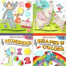 Stick-to Learning A Sing-A Long - Shapes & Color, Animals, Numbers, Letters - Sticker Book