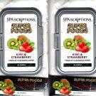 Spa Scriptions Super Foods Kiwi & Strawberry Makeup Cleansing Wipes 60 serviettes (Set of 2)
