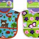 Babies 2 Grow - Waterproof Vinyl Infant Baby Bib (Set of 2)