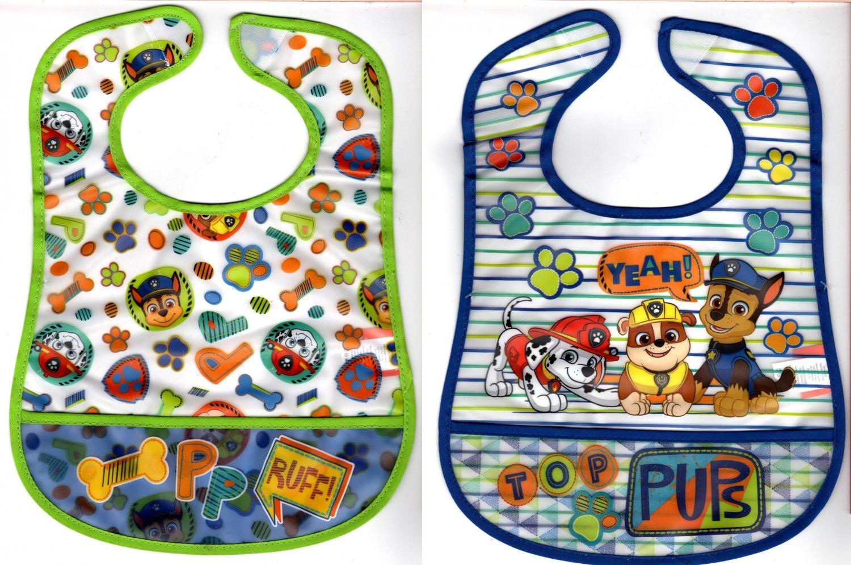 Nickelodeon Paw Patrol Waterproof Vinyl Infant Bib (Set of 2