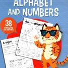 Teaching Tree Alphabet and Numbers - Worksheets Workbook - Grades PRE K-K