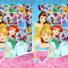 Disney Princess - Includes Puffy Stickers 4 Sheet Sticker Book (Set of 2)
