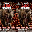 Jurassic World - Over 150 Stickers 4 Sheet Sticker Book (Set of 2)