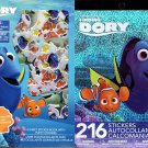 Disney Pixar Finding Dory - Includes Puffy Stickers 216 Sticker Book (Set of 2)