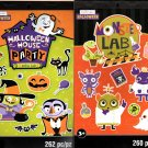 Halloween House Party and Monster Lab - Stickers Book - 262 + 260 Stickers - Halloween Set of 2 Pack