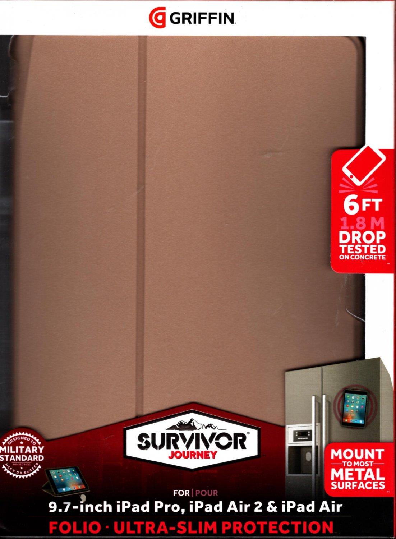 Griffin Survivor Journey Case for iPad Air 2 / iPad Air & Pro 9.7 - Gold