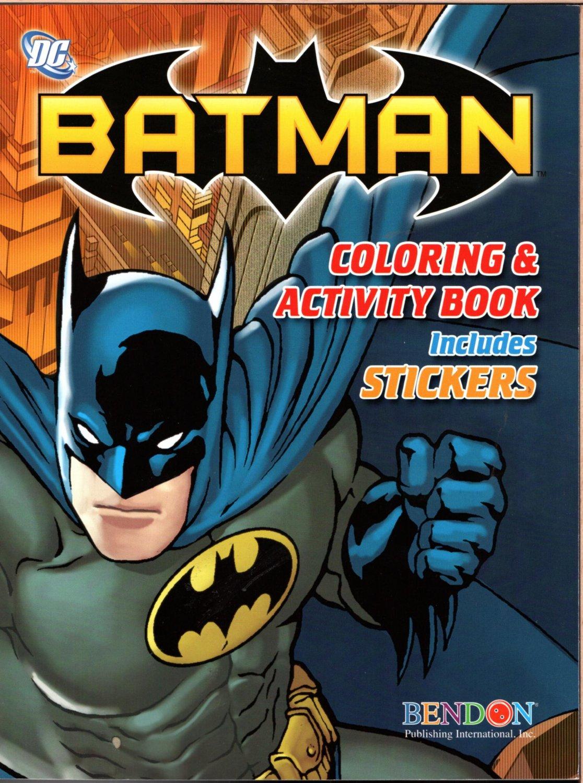 Batman - Coloring & Activity Books Includes Stickers!