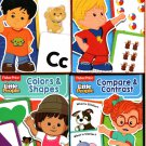 Little People Alphabet, Colors & Shapes, Compare & Contrast, & Counting 1-20 Learning Cards - v2
