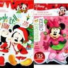 Holiday Christmas Sticker Books - Disney Minnie and Mickey Mouse 125 Stickers! (Set of 2)